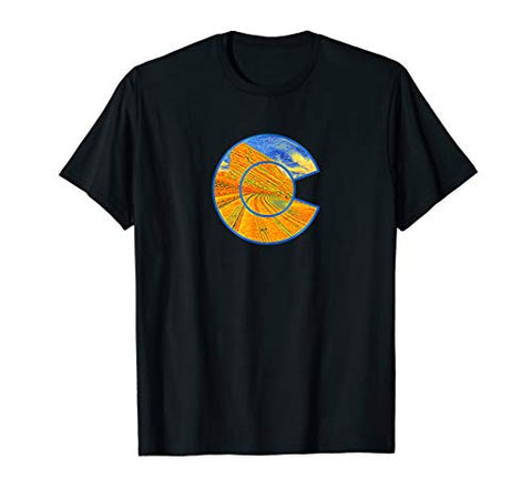 Red Rocks Colorado State Park Digital Art Colorado Graphic T-Shirt