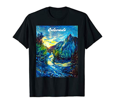 Colorado Mountain Art CO Flag Graphic Design by MCMA T-Shirt