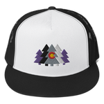 Colorado Forest Flag Classic Flat Bill Trucker Cap