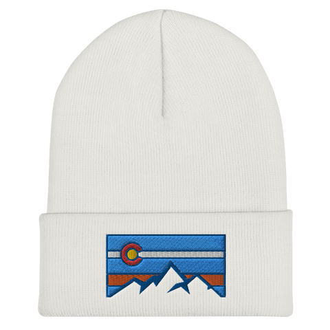Colorado Flag Colorado Underground Mountain Logo Cuffed Beanie