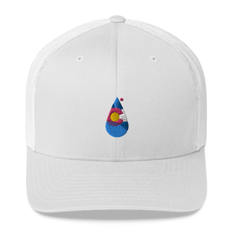 Colorado Water Drop Retro Trucker Cap