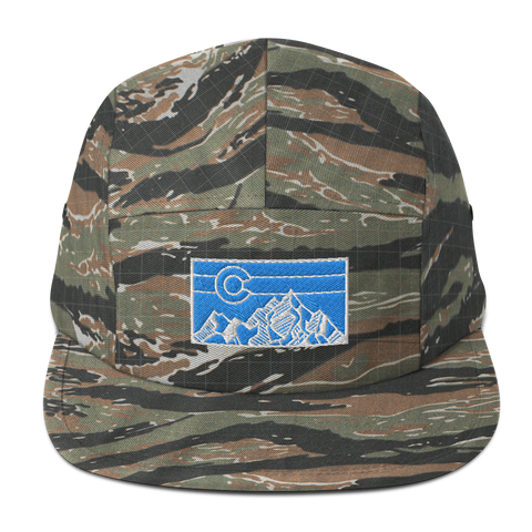 Colorado Geometric Mountain Retro Five Panel Cap