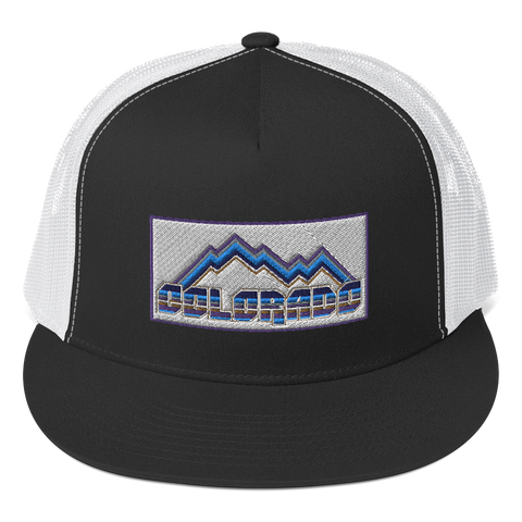 Colorado Retro Mountains Colorado Trucker Cap
