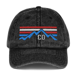 Colorado American Mountains Classic Vintage Cotton Twill Cap