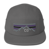 Colorado Retro Mountains Five Panel Cap