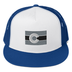 Colorado Flag Trucker Cap Blacked-Out Version