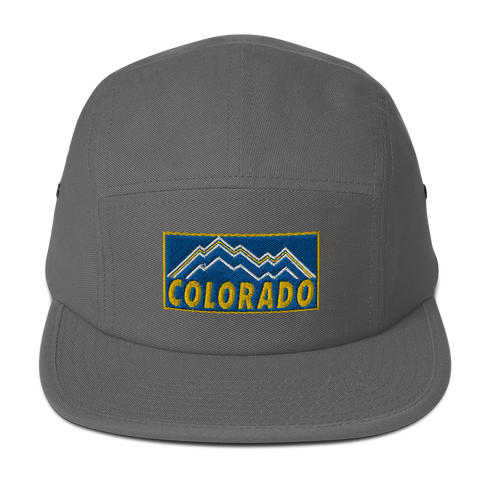 Colorado Retro Royal Gold Logo Five Panel Cap