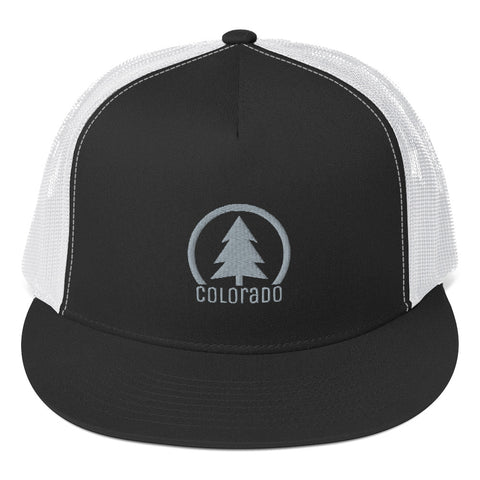 Colorado Tree Design Classic Flat Bill Trucker Hat