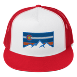 Colorado Flag Colorado Underground Patch Logo Trucker Cap