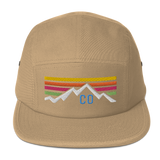 Colorado Mountain Sunset Retro Five Panel Cap