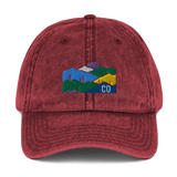 Colorado Landscape Vintage Cotton Twill Cap