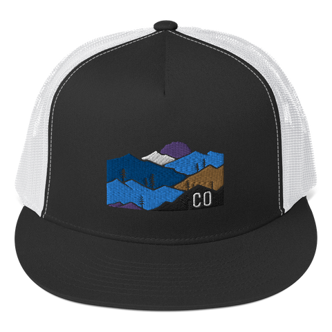 Colorado Mountains Classic Trucker Cap