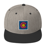 Colorado State Flag Box Logo Classic Snapback Hat