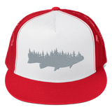 Trout Forest Classic Flat Bill Trucker Hat