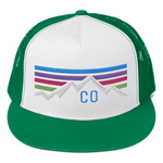 Colorado Retro Mountain Sunset Classic Trucker Cap