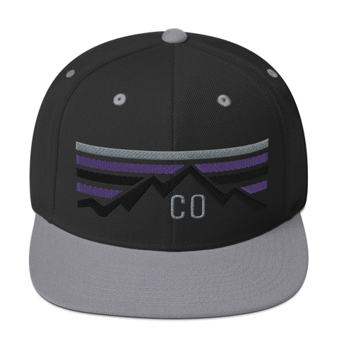 Colorado Retro Summer Sunset Baseball Classic Snapback Hat