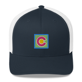 Colorado Flag Colorful Retro Trucker Cap