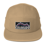 Colorado Retro Mountains Logo Five Panel Cap