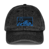 Geometric Mountain Colorado Retro Vintage Cotton Twill Cap