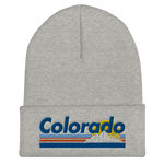 Colorado Retro Mountains Cuffed Beanie