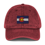 Colorado Flag Colorado Underground Vintage Cotton Twill Cap