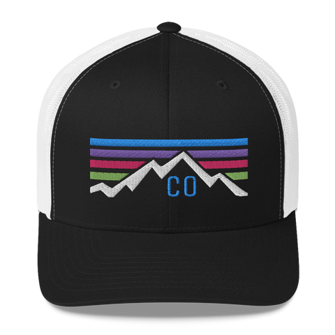 Colorado Mountain Sunset Retro Trucker Cap