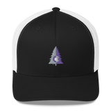 Colorado Tree Two Tone Design Retro Trucker Cap