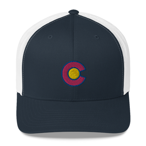 Colorado Flag C Retro Trucker Cap