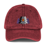 Colorado Forest and Flag Vintage Cotton Twill Cap