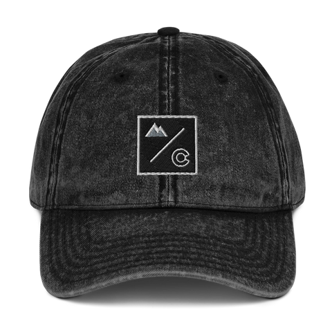 Colorado Underground Box Logo Vintage Cotton Twill Hat