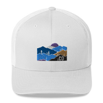 Colorado Mountain Landscape Retro Trucker Cap