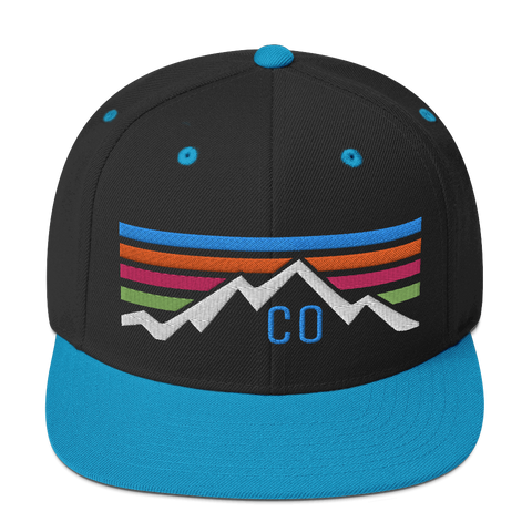 Colorado Retro Sunset Classic Snapback Hat