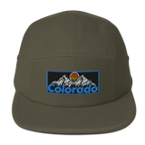 Colorado 80s 90s Mountain Logo Five Panel Cap