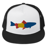 Colorado Trout Fishing Classic Flat Bill Trucker Cap