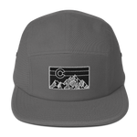 Geometric Mountain Colorado Five Panel Hat