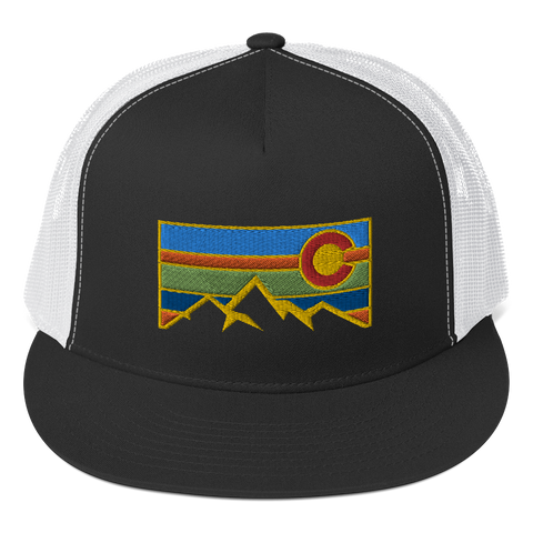 Colorado Flag Colorado Underground Logo Trucker Cap