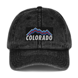 Colorado Mountains Retro Design Vintage Cotton Twill Cap