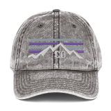 Colorado Purple Sunset Baseball Retro Cotton Twill Cap