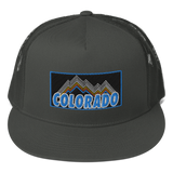 Colorado Retro Mountains Colorado Patch Trucker Cap