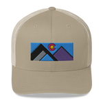 Geometric Mountains Colorado Retro Trucker Cap