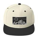 Geometric Colorado Mountains Classic Snapback Hat