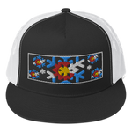 Colorado Flag Snowflake Trucker Cap