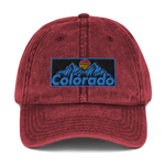 Colorado Retro 80's Design Vintage Cotton Twill Cap
