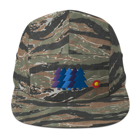 Colorado Blue Forest Five Panel Cap
