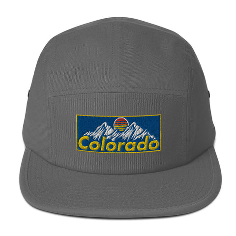Colorado Retro 80s 90s Mountains Five Panel Cap