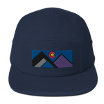 Geometric Colorado Mountains Five Panel Cap