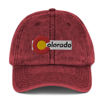 Colorado Flag Classic Vintage Cotton Twill Cap