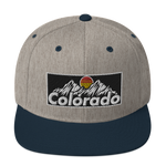 Colorado Retro Mountains Classic Snapback Hat