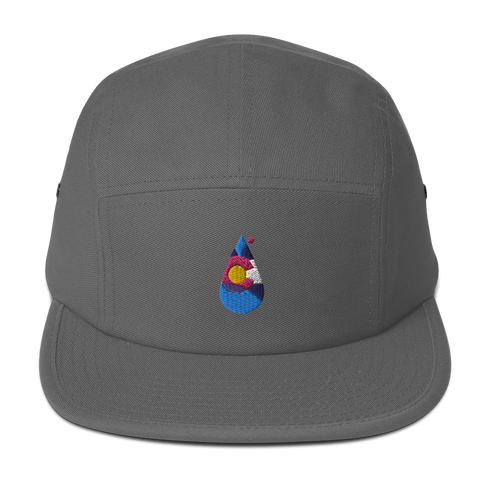 Colorado Water Drop Retro Five Panel Cap