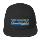 Colorado Retro Mountains Throwback Five Panel Cap